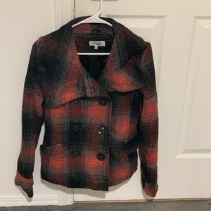 Charlotte Russe Red and Black Pea Coat